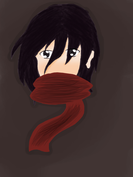 Scarfed Fighter (digitalized) by shimmerharmony4215