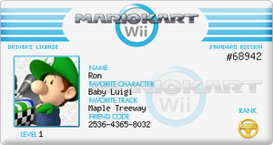 Mario Kart Wii License by RonRebel