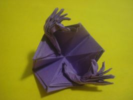 Origami folding itself. by MasonAndAGhast
