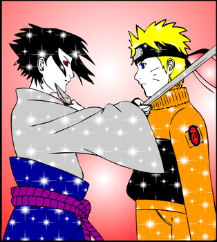 Sparky Naruto and Sasuke !! :D by egneverym