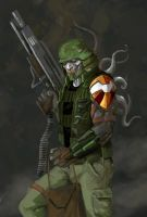 Nuclear Soldier by IttoOgamy