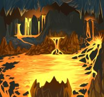 underground lava cave by Shane-D-Solomon