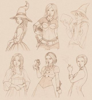 Some_Fanart_Sketches by saturn9calina