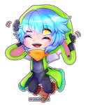 Chibi style 2 comission for serroja by AruOwlsArts