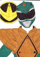 Mighty Morphin' Power Rangers 06 Green Ver. 1 by SeptimusParker