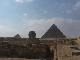 Sphinx and Pyramids by Magdyas