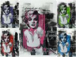 Marilyn Monroe x5 by iStncLart
