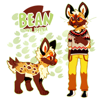 Bean the coffee hyena by Pand-ASS