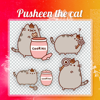 |Pusheen The cat|PNG Photopack|By cookiesandtv| by cookiesandtv