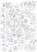 50 BomberSketches by UltimiaVlad