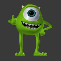 Mike wazowski 3D by LordBruco