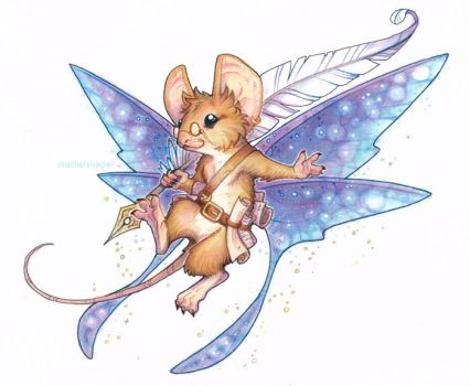 commission - fairy mouse by drachenmagier