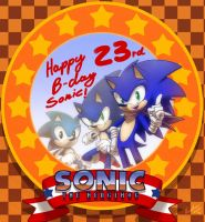 Happy B-day Sonic! by nancher