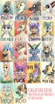 Califur 2016 Badges by OrcaOwl