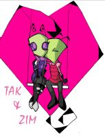 Zim + Tak by Aftershocker
