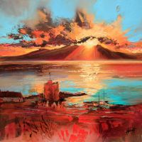 Arran from Portencross by NaismithArt