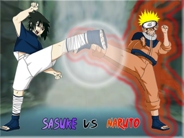 Sasuke Vs Naruto by hugziNdot7