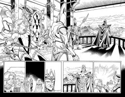 Warlord 3 double page spread by WaldenWong