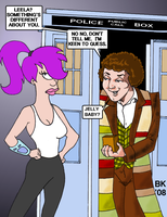 Dr. Who and Leela by GrouchoM