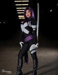 Comikaze 2014 Psylocke Photoshoot 8 by RonBirdArt