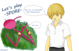 PewDiePie Let's play Spore Fanart by HylianGuy