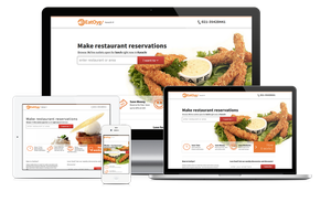 Website mockups for eatoye by copmystc