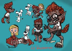 She called me a dog... Sherman werewolf sketches by wolfmarian