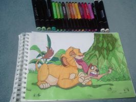 Simba And Timon Colo by vadkraam
