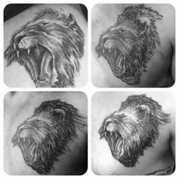 Roaring Pride Tattoo by scribilitary