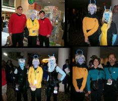 Andorians at DragonCon 2011 by SoongCybernetics