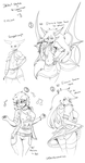 Sketch and Commission dump #3 2014 by DKDevil
