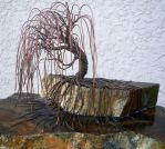 Copper Wire Weeping Willow by CopperRock