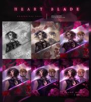 Heart Blade -Process- by merillizaART