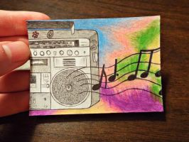 #3 ACEO for DanielleMWilliams: 90s Groove by Starfish2o