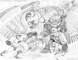 The Incredibles VS. Megamind's Minions by smaroon