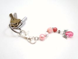 Pink Angel - Breast Cancer Awareness Keychain by SerenityinChains