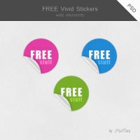 FREE Vivid Stickers by PixFairy