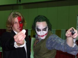 MegaCon: Harvey And Joker by Devain