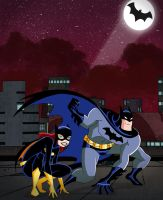 Batman and Batgirl by Glee-chan