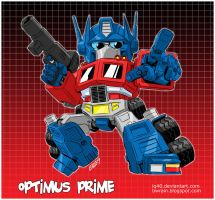 Chibi Optimus Prime by iq40