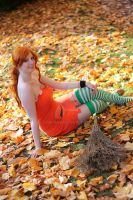 :Nami: autumn leaves by Dark-Nami