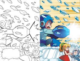 Mega Man 22 Cover by herms85