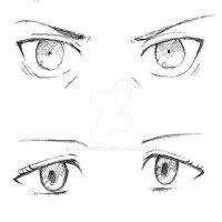 Eren and Mikasa eyes by delta-why