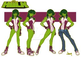 She Hulk Model sheet by Jonboy007007