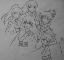 Girls of Inuyasha by sefira