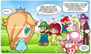 Lonely Rosalina by veganartbook