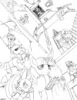 Castlemaneia -Pencils- by foolyguy