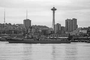A Navy Ship by Mackingster