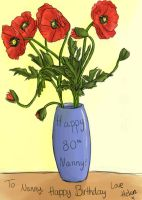 Vase of poppies by TopHat-And-Tentacles