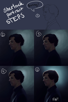 12 Sherlock profile - steps by harbek